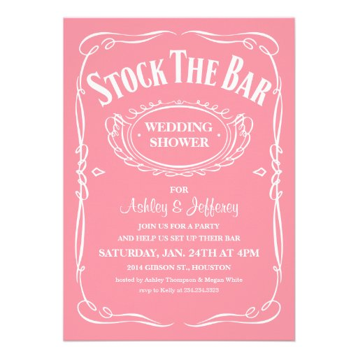 Stock The Bar Party Invitations can inspire you to create best invitation template
