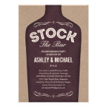 Stock the Bar Shower Invitations