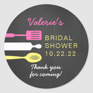 Stock the kitchen bridal shower favor sticker