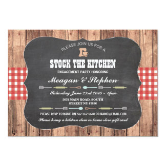Stock The Kitchen Engagement Party Couples Shower Card