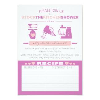 Stock The Kitchen Modern Bridal Shower | Fuchsia Card