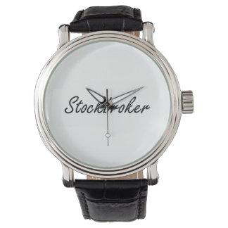 Stockbroker Artistic Job Design Watch