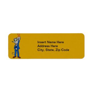 Stockbroker Mouse Return Address Label