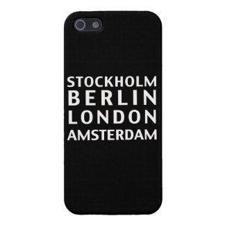 Stockholm Berlin London Amsterdam Case iPhone 5/5S Case
