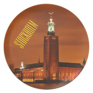 Stockholm City Hall, Sweden Plate