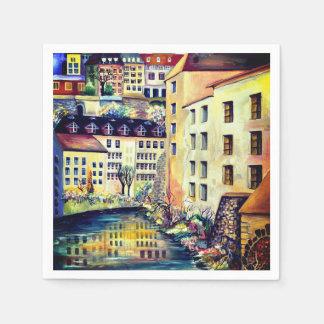 Stockholm - Gamla Stan, old city, Sweden Paper Napkin