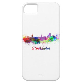 Stockholm skyline in watercolor case for the iPhone 5