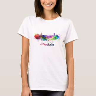 Stockholm skyline in watercolor T-Shirt