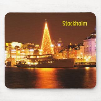 Stockholm, Sweden at Christmas at night Mouse Pad