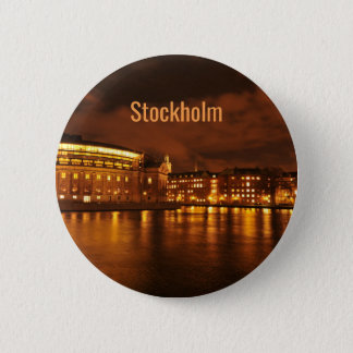 Stockholm, Sweden at night 2 Inch Round Button