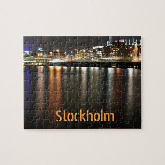 Stockholm, Sweden at night Jigsaw Puzzle
