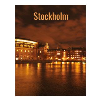Stockholm, Sweden at night Letterhead