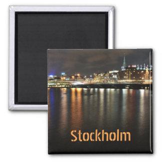 Stockholm, Sweden at night Magnet