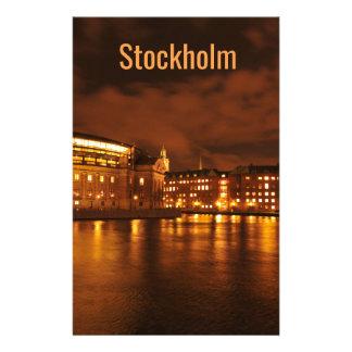 Stockholm, Sweden at night Stationery