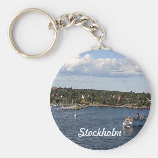 Stockholm Sweden Bay Keychain