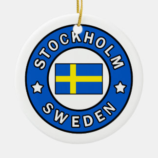 Stockholm Sweden Ceramic Ornament