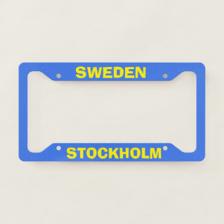 Stockholm Sweden Custom License Plate Frame