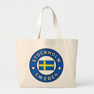 Stockholm Sweden Large Tote Bag