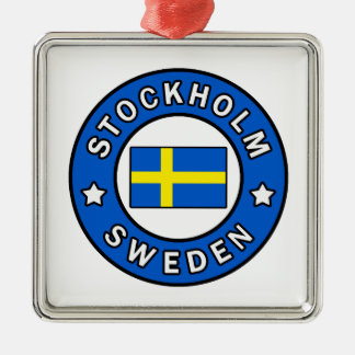 Stockholm Sweden Metal Ornament