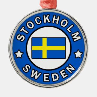 Stockholm Sweden Metal Ornament