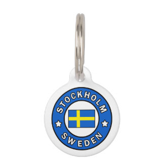 Stockholm Sweden Pet Name Tag