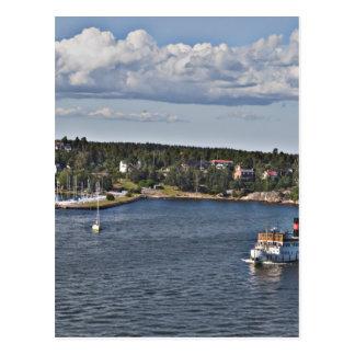 Stockholm Sweden Port Postcard
