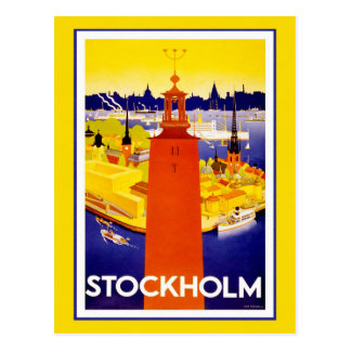 Stockholm, Sweden - Retro Travel Postcard