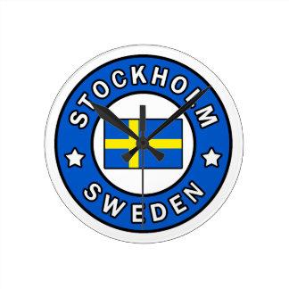 Stockholm Sweden Round Clock