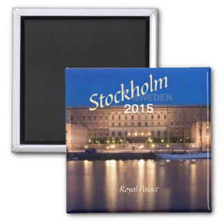 Stockholm Sweden Travel Fridge Magnet Change year
