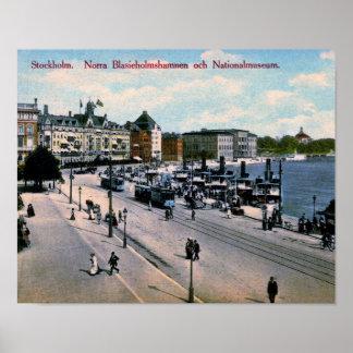 Stockholm, Sweden, View, National Museum, Vintage Poster
