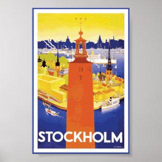Stockholm Sweden Vintage Poster
