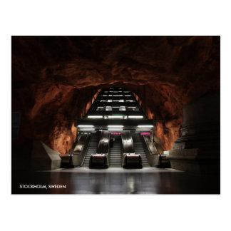 Stockholm Underground I with City Name Postcard