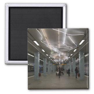 Stockholm Underground II Square Magnet