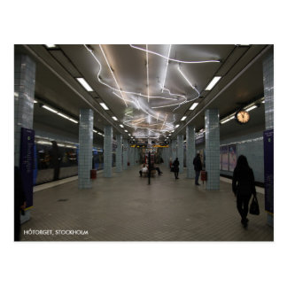 Stockholm Underground II, with Station Text Postcard
