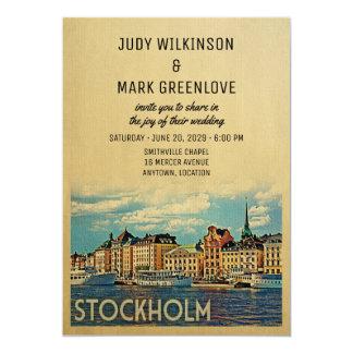 Stockholm Wedding Invitation Sweden