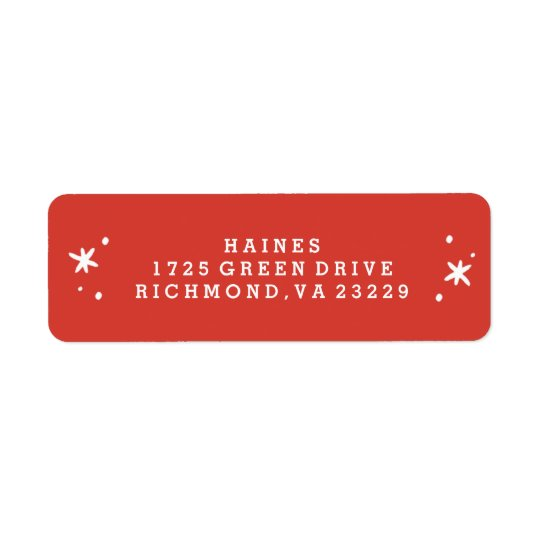 Stocking Stuffers Address Label