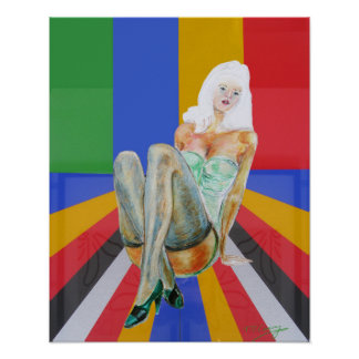 stockings and stilettos popart poster