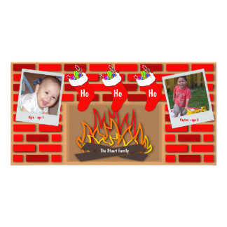 Stockings By The Fireplace Holiday Card