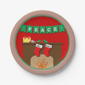 Stockings Were Hung by Chimney • 2 Stockings Paper Plate