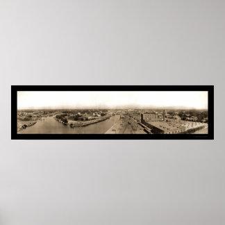 Stockton CA Riverview Photo 1909 Poster