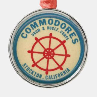stockton commodores drum and bugle corps metal ornament