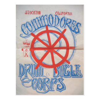 Stockton Commodores Drum and Bugle Corps Postcard