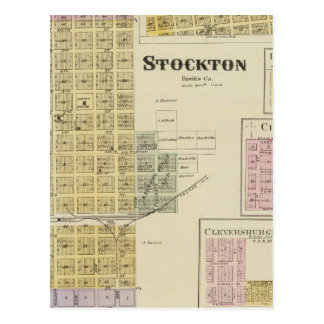 Stockton, Woodston, Rock Port, Clayton, Kansas Postcard
