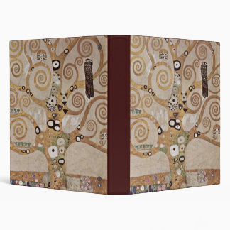 Stoclet Fries Tree Of Life 3 Ring Binder