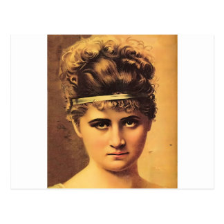 Stoic Girl with Intense Look Postcard