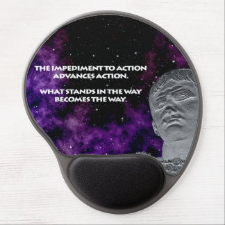 Stoic Quote Gel Mouse Pad