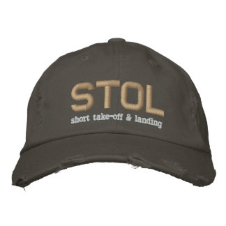 STOL Short Take-Off & Landing Embroidered Hat