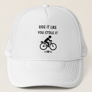 """""""Stole it"""" cycling hats for him and her"""