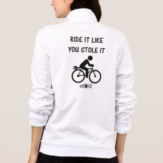 """""""Stole it"""" cycling jackets for women"""