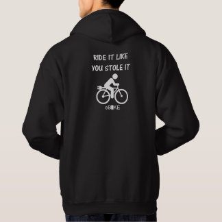 """""""Stole it"""" ebike cycling hoodies for him"""